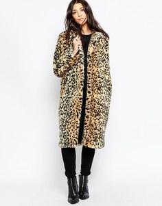 Леопардовая шуба из искусственного меха Brave Soul - Leopard
