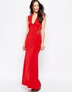 Платье макси с кружевной спинкой Jessica Wright Rochelle - Красный