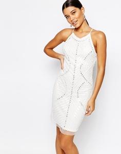 Платье с пайетками True Decadence - Белый
