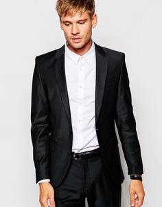 Эластичный пиджак слим для деловых поездок Selected Homme - Черный