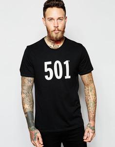 Черная футболка с принтом 501 Levi's - Черный Levi's®