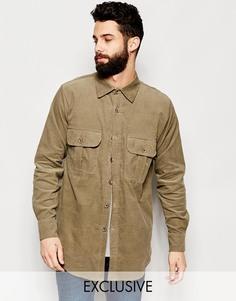 Вельветовая рубашка навыпуск с карманами Reclaimed Vintage - Хаки