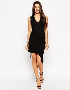 Платье с драпировкой ASOS - Черный