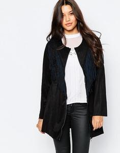 Пиджак с бахромой Style London - Черный