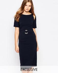 Платье-трапеция миди Twin Sister - Темно-синий