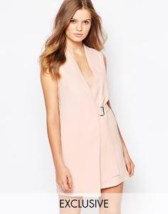 Платье мини с запахом Twin Sister - Nude pink