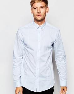 Рубашка слим с добавлением эластичных волокон Selected Homme - Светло-голубой
