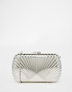 Серебристый фактурный клатч в стиле арт-деко Vintage Styler - Серебряный