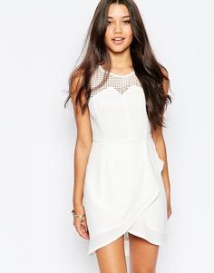 Платье с асимметричным подолом Style London - Белый