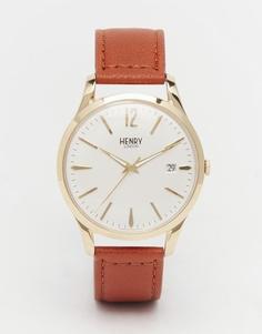 Часы с кожаным ремешком Henry London Westminster - Коричневый