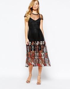Черное платье с вышивкой Body Frock Delilah - Jet