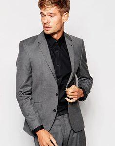 Пиджак узкого кроя Selected Homme - Серый