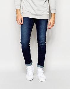 Темные зауженные эластичные джинсы Cheap Monday - Насыщенный индиго