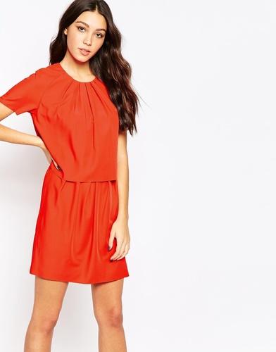 Платье Y.A.S Trine Twofer - Красный