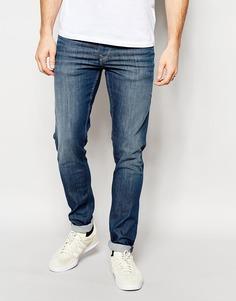 Синие суперстретчевые джинсы Pepe Jeans Powerflex Finsbury - Выбеленный деним Big Тwill