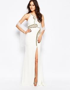 Платье макси с декоративной отделкой Forever Unique Skylar - Слоновая кость