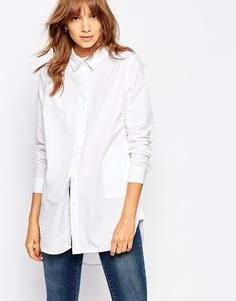 Удлиненная рубашка с карманами Vila - Белый