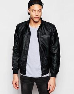 Куртка из искусственной кожи Brave Soul - Черный