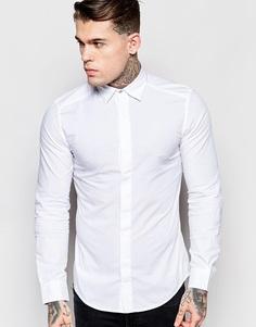 Белая рубашка зауженного кроя со скрытой планкой Diesel S‑Nap - Белый