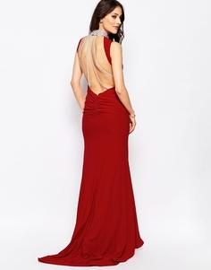 Платье макси с отделкой бисером на воротнике Forever Unique Austin - Красный