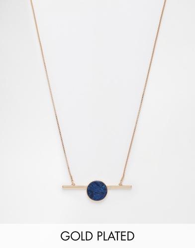 Броское ожерелье с синим камнем Pilgrim - Синий