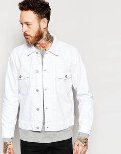 Белая джинсовая куртка Wood Wood - Белый