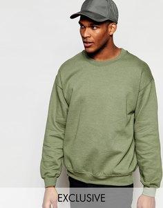 Oversize-свитшот Reclaimed Vintage - Военный зеленый