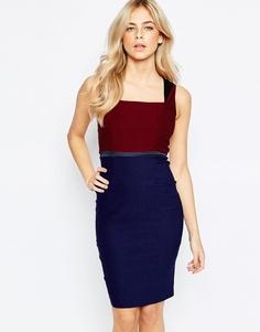 Платье-футляр 2 в 1 с запахом и квадратным вырезом Vesper