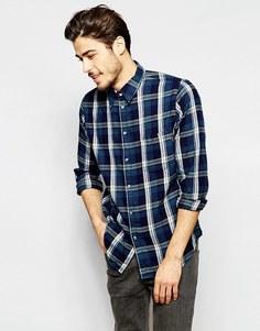 Рубашка классического кроя в клетку Paul Smith Jeans - Синий