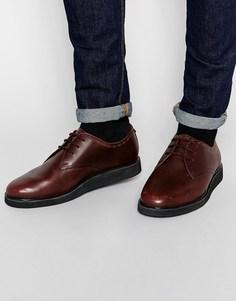 Кожаные туфли Fred Perry Newburgh - Коричневый