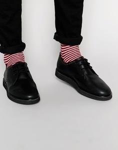 Кожаные туфли Fred Perry Newburgh - Черный