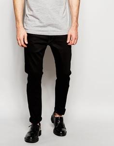 Эластичные черные джинсы слим G-Star 3301 - Raw