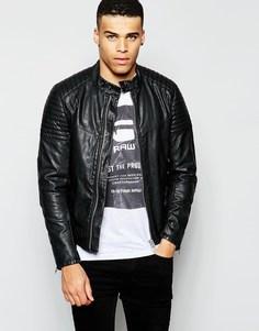 Черная байкерская куртка из искусственной кожи G-Star - Черный
