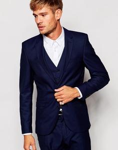 Пиджак узкого кроя Selected Homme - Темно-синий