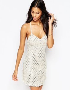 Короткое приталенное платье с пайетками Glamorous - Золотистые пайетки