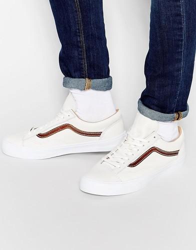 Кожаные кроссовки Vans California Style 36 - Белый