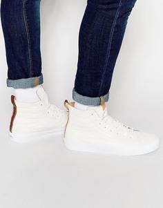 Кожаные высокие кроссовки Vans California Sk8 Decon - Белый