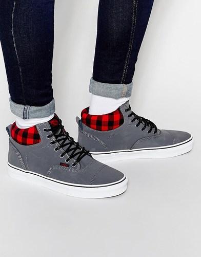 Высокие зимние кроссовки Vans Era - Серый