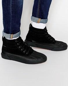 Зимние высокие кроссовки Vans Sk8 Del Pato - Черный