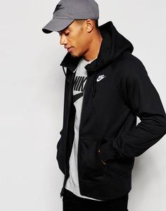 Худи на молнии Nike AW77 545261-013 - Черный