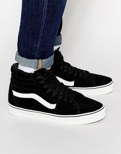 Высокие замшевые кроссовки с шерстяной подкладкой Vans Sk8 - Черный
