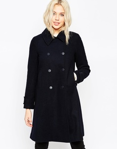 Пальто-трапеция ASOS - Темно-синий