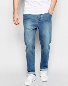 Умеренно-синие суженные книзу джинсы стретч ASOS Green Caste - Умеренный синий