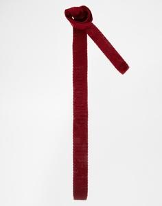Бордовый трикотажный галстук ASOS - Burgundy