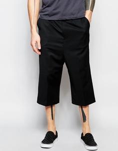 Укороченные строгие брюки с широкими штанинами ASOS - Черный