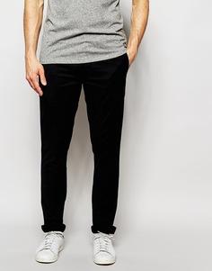 Стретчевые брюки слим Paul Smith Jeans - Темно-синий