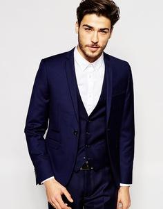 Супероблегающий пиджак Vito - Темно-синий