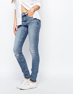 Эластичные джинсы скинни с высокой талией Hilfiger Denim Santana - Синий