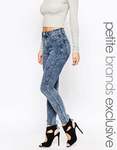 Мраморные джинсы скинни Glamorous Petite - Синий