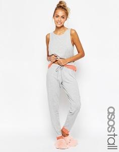 Пижама с майкой и леггинсами ASOS TALL - Серый